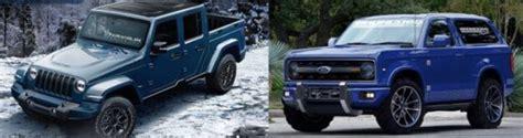 ford jeep 2020 2020 ford bronco vs 2018 jeep wrangler