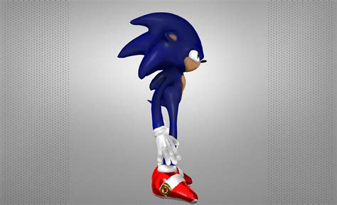 sonic  hedgehog  model  printable obj cgtradercom