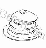Pancake Pancakes Sketch Coloring Drawing Flapjack Flapjacks Pages Template Sausage I365art Getdrawings Food sketch template