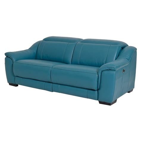 blue leather reclining sofa teal blue leather sofa the teal deal inspired designs by