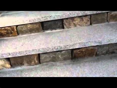granite treads and veneer risers