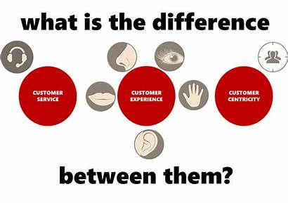 Between Difference Customer Experience Centricity Service Them