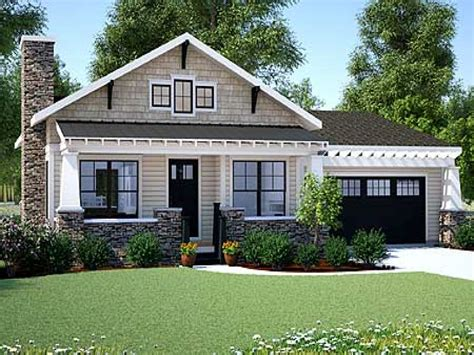 New One Story House Plans by Craftsman Bungalow Small One Story Craftsman Style House