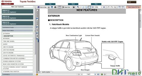 toyota auris corolla diesel service repair manual update  toyota workshop manual