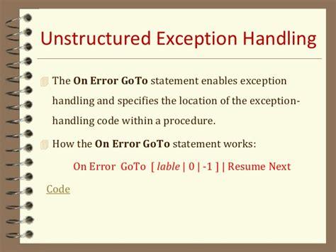 on error resume next visual basic