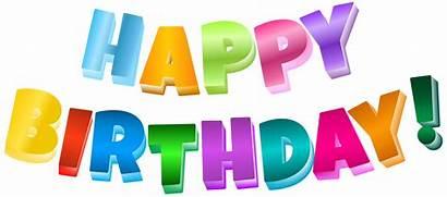 Birthday Transparent Happy Clipart Clip Multicolor Cake