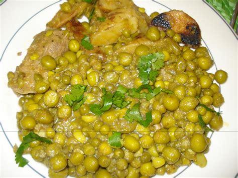 cuisine petit pois petits pois sautes a la viande cuisine algerienne bordjienne