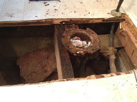 Bathroom Toilet Subfloor Repair New Glueless Flooring