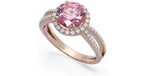 Macy's Pink Cubic Zirconia Ring In 14k Rose Gold Over Sterling Silver In Gray Online Jewelry Academy Videos Exchange In Nanuet Ny Las Vegas Nv Earrings Viewmont Sell Uk Lake Worth Junk Shopping
