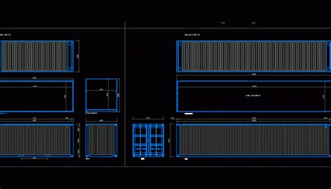 maritime containers dwg block  autocad designs cad