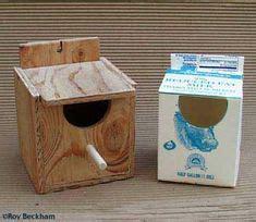 finch nesting boxes diy milk carton nest box  flip lid pets nesting boxes bird house