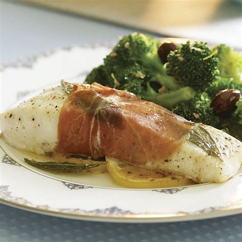 prosciutto wrapped halibut  sage butter sauce recipe