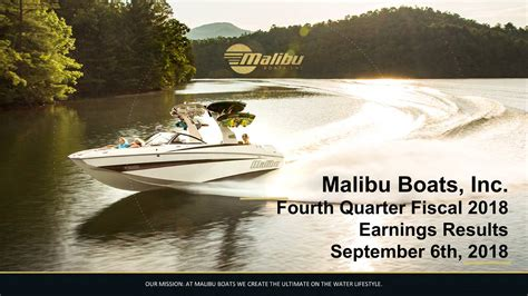 Malibu Boats Earnings Call by Malibu Boats Inc 2018 Q4 Results Earnings Call