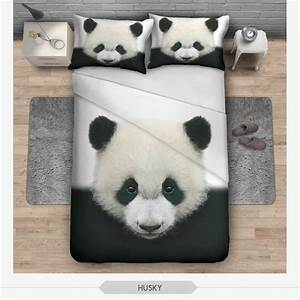 Housse De Couette Panda : new hipster 3d ensembles de literie panda animaux souple housse de couette maison de haute ~ Teatrodelosmanantiales.com Idées de Décoration