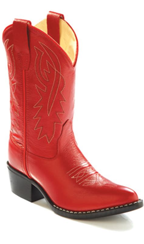 jama  west cowgirl boot red toddlers kids