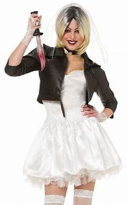 Sexy Womens 80s Bride of Chucky Halloween Fancy Dress Costume