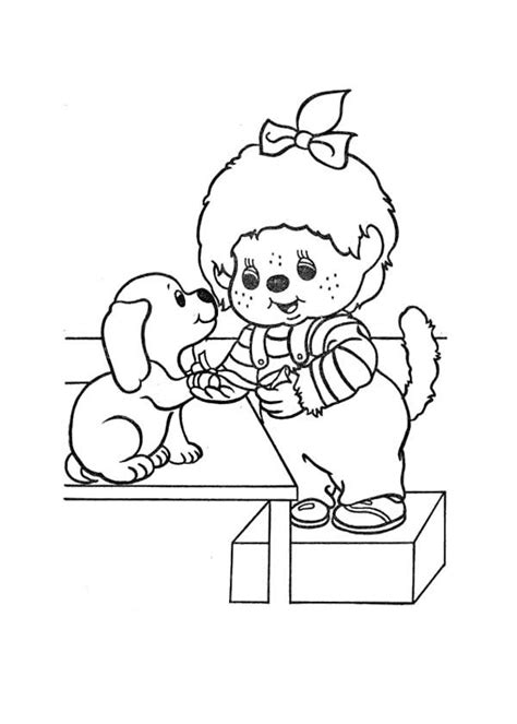 Monchichi Kleurplaat by Monchichi And Coloring Page Coloring Pages