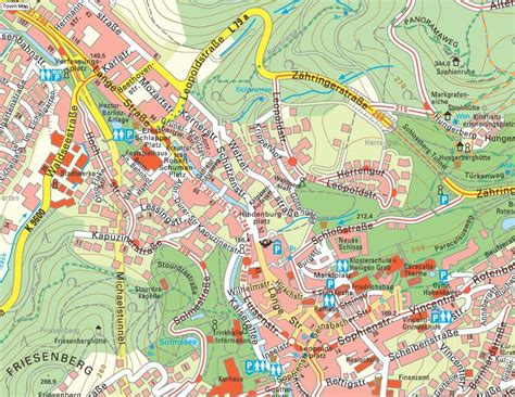 On four varied stages, the premium hiking trail entices you with wonderful views, breathtaking nature, cultural and also culinary delights. Baden Baden Street Map - Baden Baden Germany • mappery
