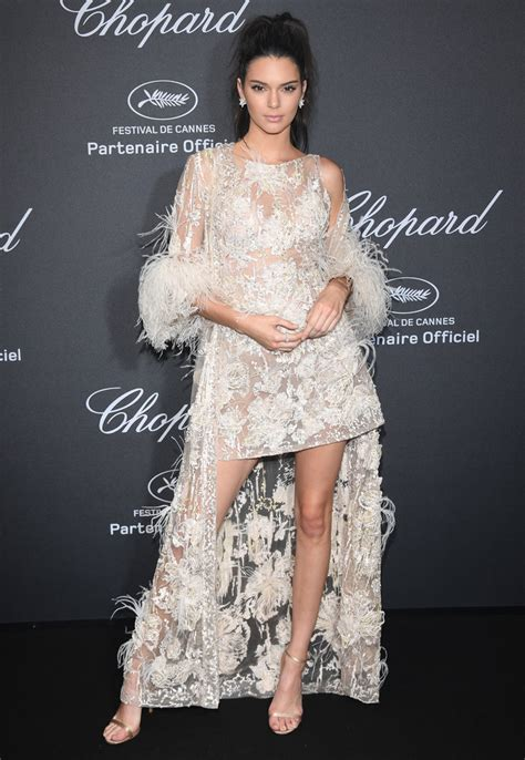 Kendall Jenner Wears Sheer Elie Saab Haute Couture Dress