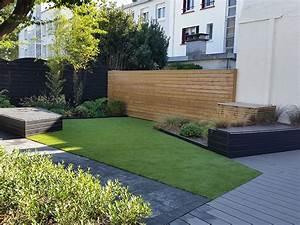 photo de jardin moderne meilleures images d39inspiration With eclairage exterieur maison contemporaine 10 piscine et amenagement carquefou contemporain terrasse
