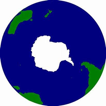 Earth Hemisphere Southern Clip Clipart Antarctica Vector