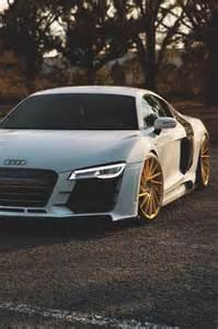 Audi R8 Black Car Gold Rims