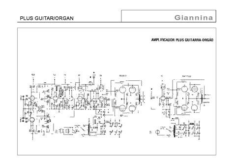 Giannina Plus Guitar Organ Schematic Service Manual