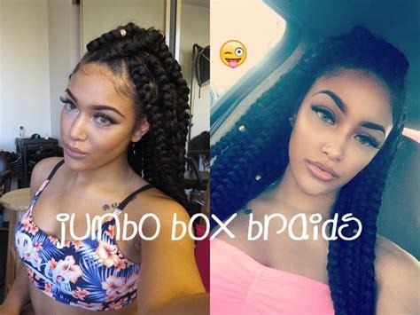 Jumbo box braids ? Amazing Long Term Protective Style