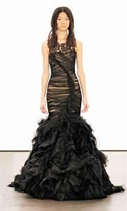elegant collections of vera wang black wedding dresses With black vera wang wedding dress