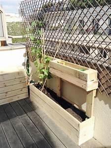 diy jardinieres en palettes de bois jardiniere en With brise vue avec jardiniere 9 transformer une palette en bois en jardiniare deco