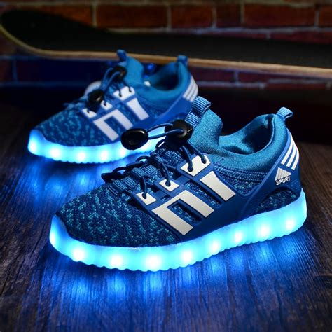 Boys Light Up Shoes by Glowing Children Casual Shoes With Usb Rechargeable