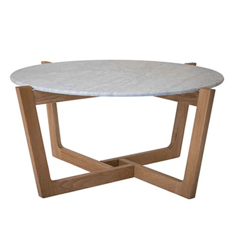 The styles range from stylish modern many styles of marble coffee tables feature smooth rounded edges and curved legs, or a solid base. Monterey Marble Coffee Table - Solid American Oak - Natural | furniture | Round coffee table ...