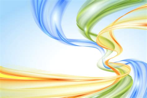 Wallpaper Waves, Vertical, Colorful, Blue, Orange, Green