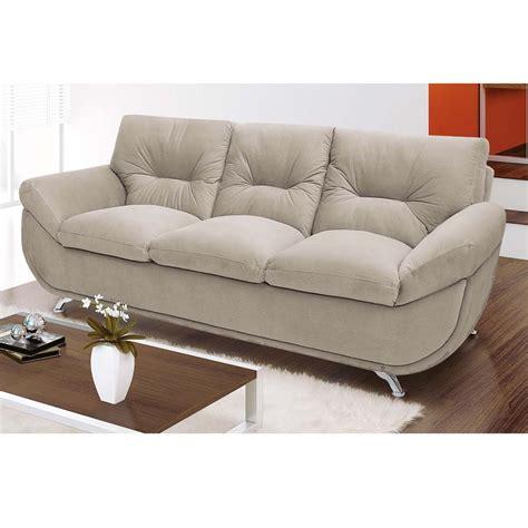 sofá 3 lugares linoforte larissa em tecido suede marrom sof 225 3 lugares linoforte zen tecido em suede sof 225 s no