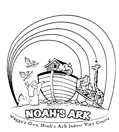 ark templates noahs ark rainbow coloring page coloring pages