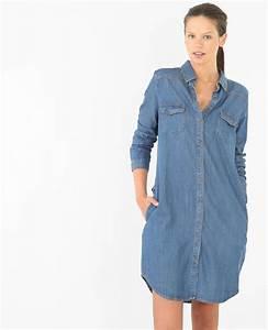 Robe chemise denim - 780472682A06 Pimkie