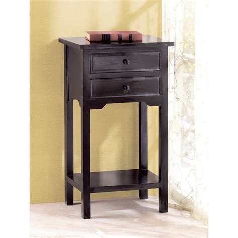 black side table with drawer black telephone side table with 2 drawers one shelf tables