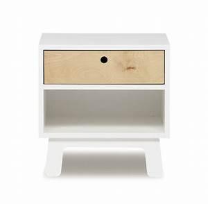 Table De Chevet Blanc Et Bois : table de nuit sparrow blanc oeuf nyc pour chambre enfant ~ Teatrodelosmanantiales.com Idées de Décoration