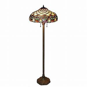 Serena d39italia tiffany baroque 60 in bronze floor lamp for Boardwalk tiffany floor lamp