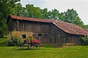 Old Country Barns with Flowers