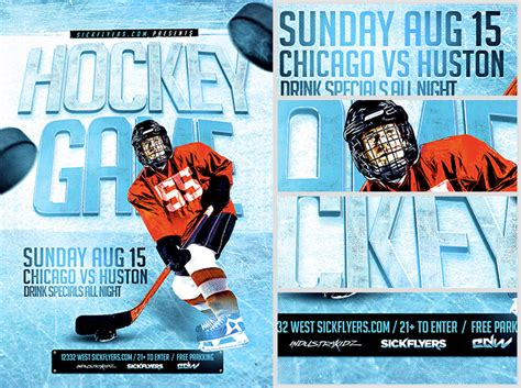 Hockey Flyer Template - Costumepartyrun