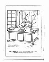 Coloring Oval Desk Template Sketch sketch template