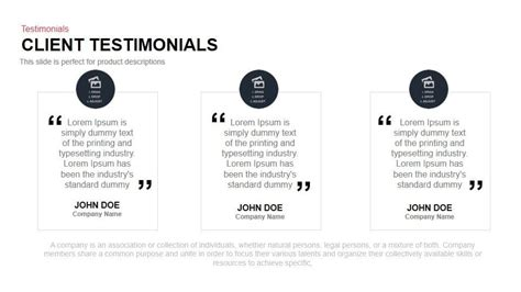 testimonial template client testimonials powerpoint and keynote template slidebazaar