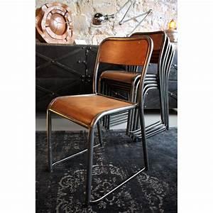 Chaise D école : chaise d 39 cole ancienne de type mullca les nouveaux brocanteurs ~ Teatrodelosmanantiales.com Idées de Décoration