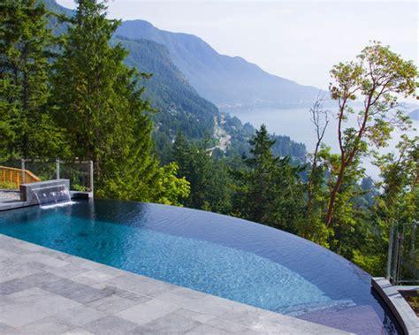 Infinity Pool : Landscape Small Backyard Infinity Pool Design Ideas