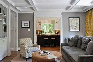 Wohnzimmer Einrichtn Haus Einer Familie Grau Couch Sofa