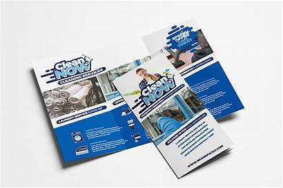Brochure Fold Tri Trifold Cleaning Service Template