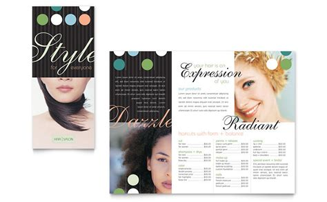 Salon Brochure Templates Free by Hair Salon Brochure Template Word Publisher