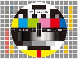 Television Test Screen No Signal Vector Illustration ...