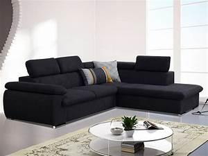 canape angle droit convertible achat en ligne With tapis d entrée avec canapé convertible tissu noir